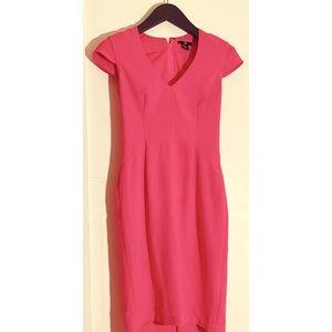 💜 H&M PINK High Waist Sheath Zip up Dress sz 6